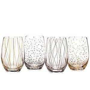 Mikasa Cheers Stemless Wine Glasses (set of 4)